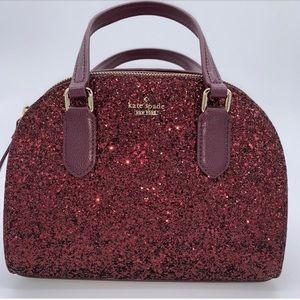 Kate spade glitter Riley deep plum purse